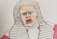Phil Parry as judge