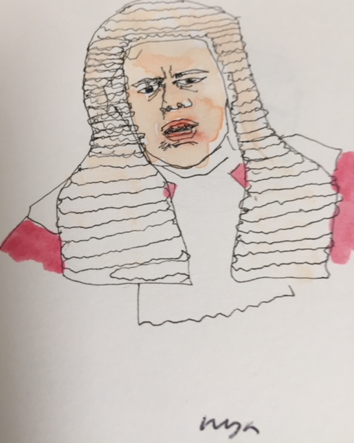 Phil Parry as judge