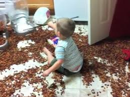 Baby in mess