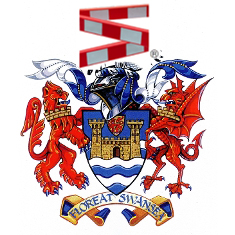Coat of arms, Swansea city coat of arms, roadworks.